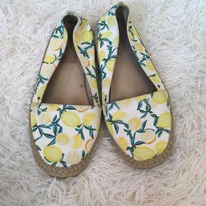 Shoes - Lemon print espadrilles